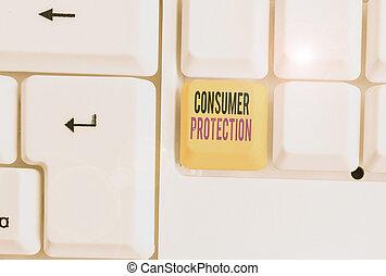 consumers., texte, règlement, droits, mot, consommateur, protéger, protection., écriture, but, concept, business