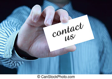 contact, -, carte affaires, nous