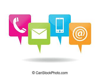 contacter, icônes