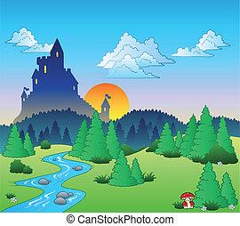 conte, 1, fée, paysage