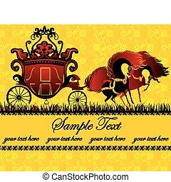 conte, carriage., fée