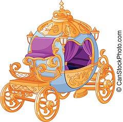 conte fées, cendrillon, voiture