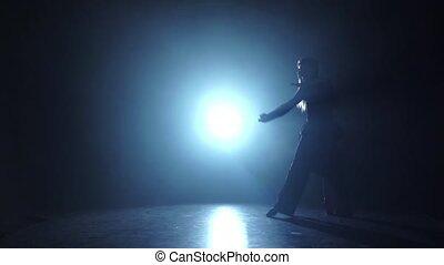 contemporain, danse, émotif, exécuté, gracieux, champions, ralenti