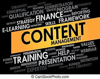 contenu, gestion, mot, nuage