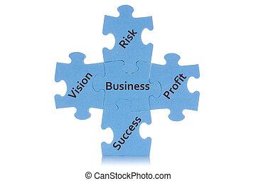 contenu, projection, puzzle, business
