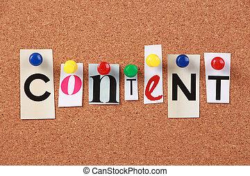 contenu, word unique