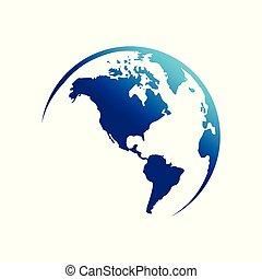 continent, amérique, globe, carte