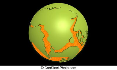 continental, dérive, magma, atlantique