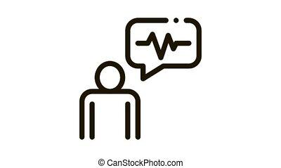 contrôle, animation, voix, icône, orateur