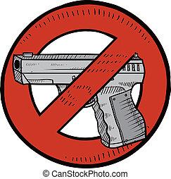 contrôle, croquis, fusil