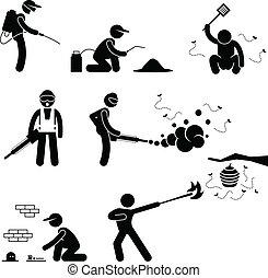 contrôle, exterminateur, casse-pieds, gens