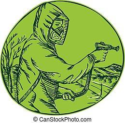 contrôle, graver, pesticide, exterminateur, pulvérisation, herbicide