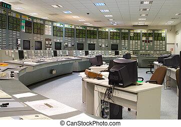 contrôle, plante, salle, production électricité, nucléaire, russe