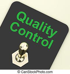 contrôle, projection, satisfaction, commutateur, perfection, qualité