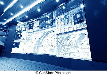 contrôle, trafic, centre
