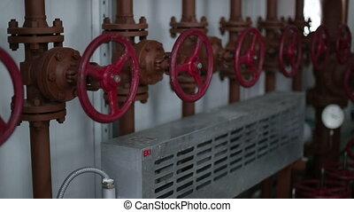 contrôle, utilisé, soupape, processus, process., manuel, système, production, valves