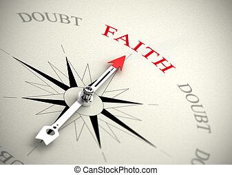 contre, foi, confiance, concept, doute, religion, ou