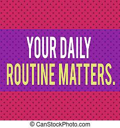 contre, matters., rouges, polka, interminable, concept, vivant, routine, habitudes, business, sain, arrière-plan., seamless, infini, écriture, bon, point, texte, ton, vie quotidienne, modèle, mot, solide, avoir
