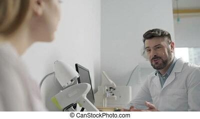 conversation, collègues, avoir, monde médical, deux