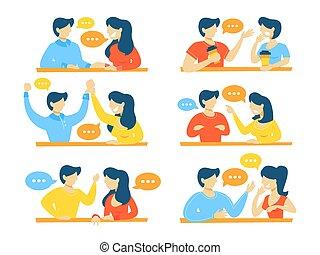 conversation, ensemble, gens