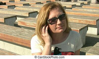 conversation, femmes, téléphone