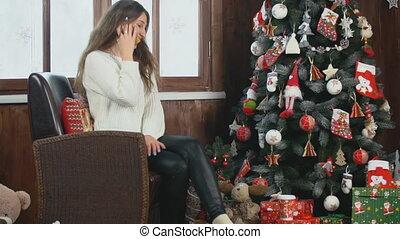 conversation, girl, téléphone