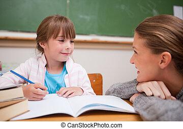 conversation, prof, écolière