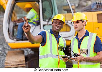 conversation, site construction, collègues