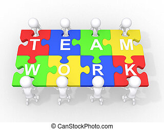 coopération, collaboration, concept, direction