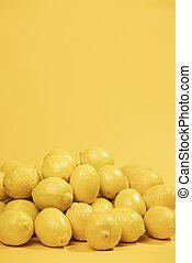 copie, résolution, photo, concept, fin, space., qualité, tas, citrons, haut, beau, élevé