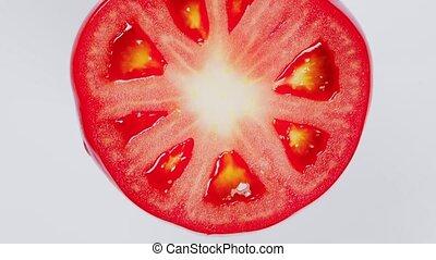 copie, sommet, couper, beau, tomato., rouges, vue., space.