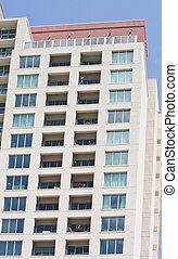 copropriété, balcons, tour