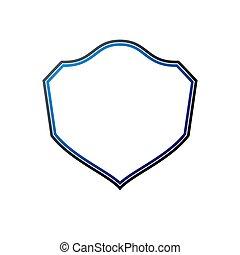 copy-space, protection, vecteur, vendange, cadre, emblem., héraldique, vide, bouclier