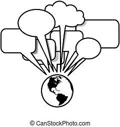 copyspace, ouest, blogs, pourparlers, parole, tweets, la terre, bulle