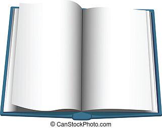 copyspace, virage, livre, fond, ouvert, page