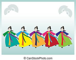 coréen, danseurs