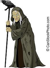 corbeau, sorcière