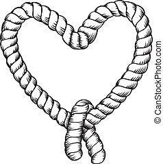 corde, confection, forme, coeur