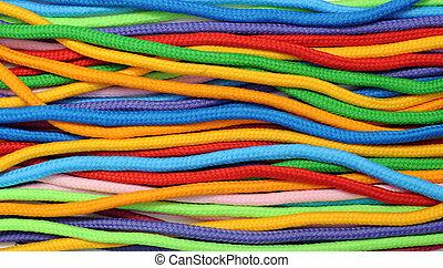 corde, lin, multicolore