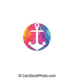 corde, logo, template., conception, ancre