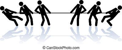 corde, traction, professionnels