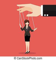 cordes, affaires femme, marionnette
