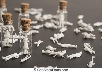 coronavirus, gens, victimes, protégé, covid-19, pandémie