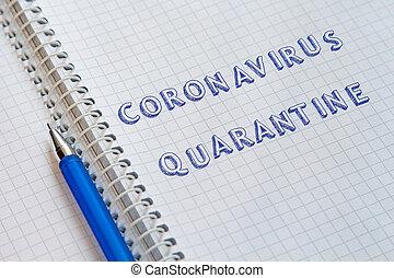 coronavirus, quarantaine