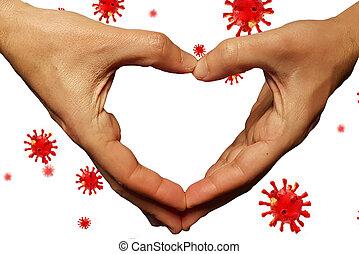 coronavirus, -, rendre, donner, aide, fond, soutien, financier, pandémie, covid-19, 3d
