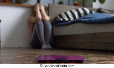 corps, femme, poids, elle, désordre, accentué