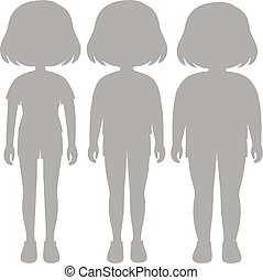corps, girl, ensemble, silhouette, transformation