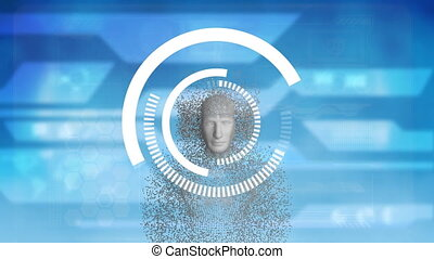 corps humain, anneaux, tourner