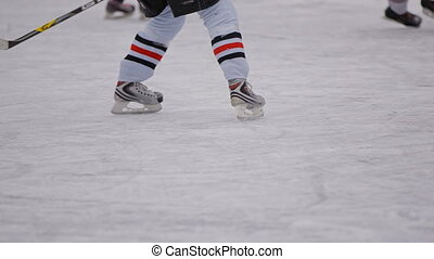 corps, jeu, hommes, champ, parties, hockey, enthusiasm.