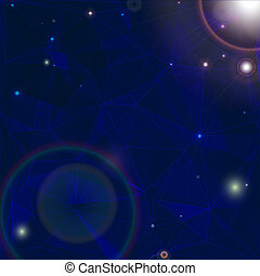 cosmos, étoiles, withbright, fond, espace